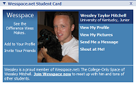 Wesspace Student Card
